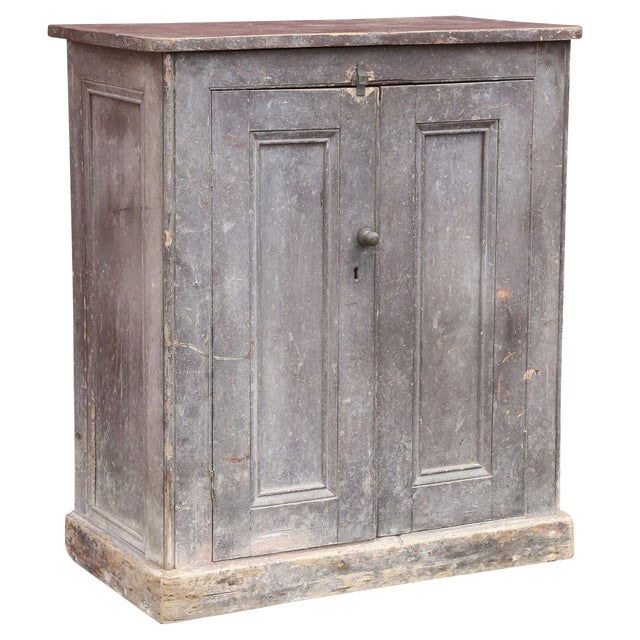 Painted Two-Door Cabinet For Sale