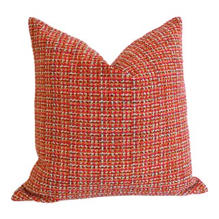 Bright Pink Tweed Pillow Cover 16x16 For Sale