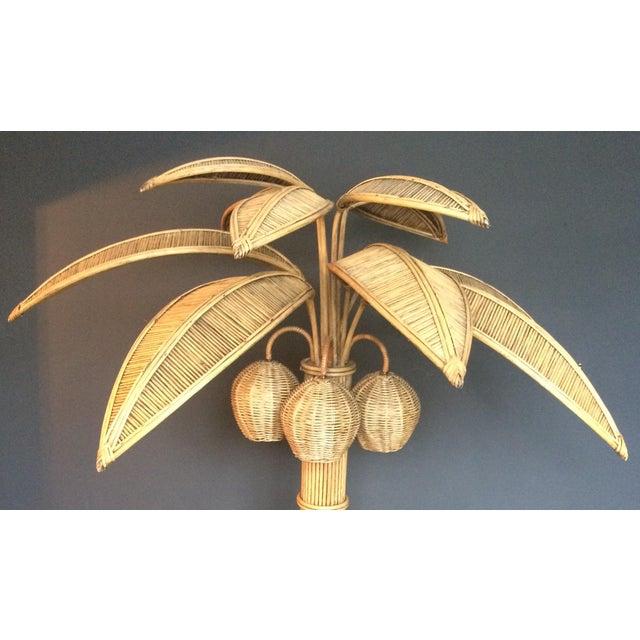 ec638b35310bb Hollywood Regency Mario Lopez Torres Rattan Palm Tree Floor Lamp For Sale -  Image 3 of