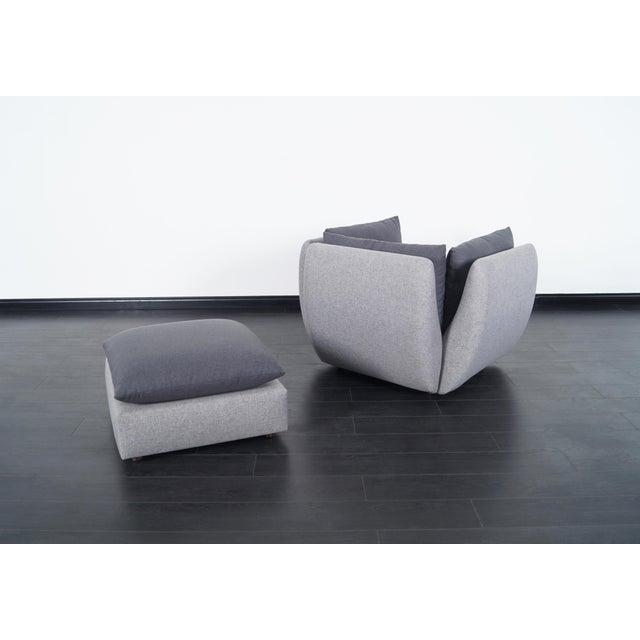 Milo Baughman Mid Century Modern Lounge Chair & Ottoman For Sale - Image 4 of 8