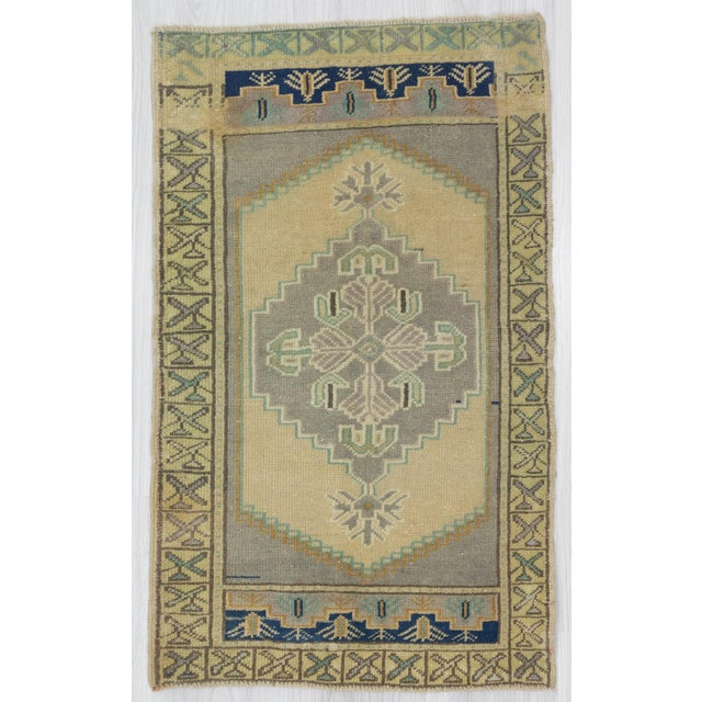 1960s Turkish Pastel Wool Rug For Sale - Image 4 of 4