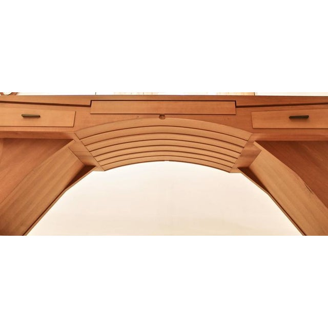 """""""Arch Bridge"""", Late 20th Century Constructivist Desk in Pear wood, Ed Weinberger For Sale - Image 6 of 10"""