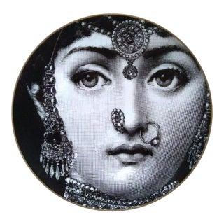 Vintage Rosenthal Fornasetti Temi E Variazioni Motiv 3 Porcelain Plate, 1980s. For Sale