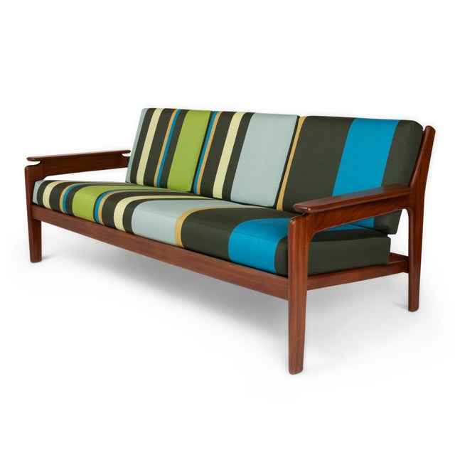 Vintage Italian Mid-Century Sofa Set in Paul Smith Big Stripe Fabric ...