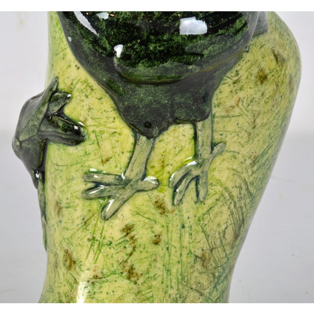 Ceramic Bird Motif Vase For Sale - Image 9 of 13