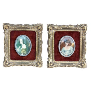 Cameo Creation Framed Portraits, Pair For Sale