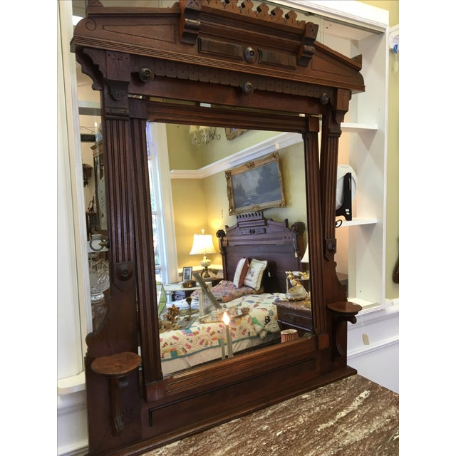 Late 19th-C. Walnut Dresser & Swivel Mirror - Image 3 of 5