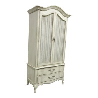 White Fine Furniture French Provincial Armoire For Sale