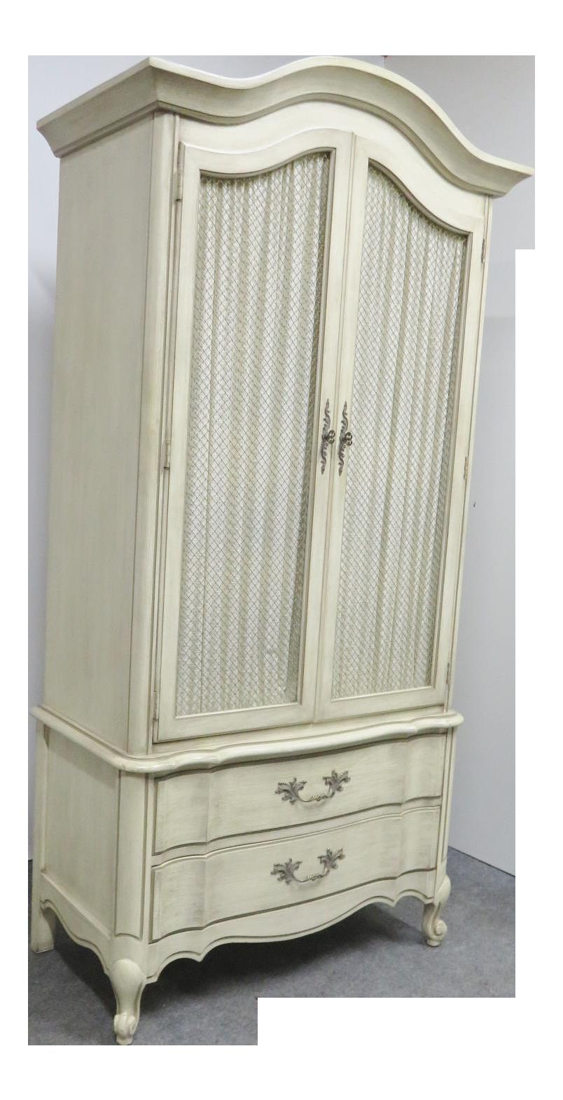 White Fine Furniture French Provincial Armoire