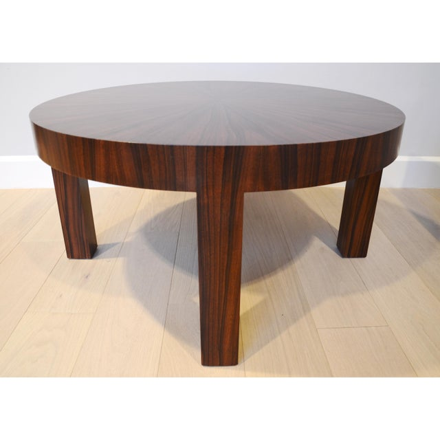 Art Deco Jean Michel Frank Style Circular Wood Coffee Table - Image 4 of 9