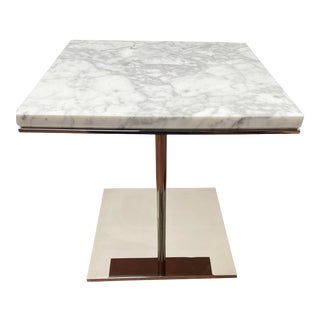 Modern Bolier for Decca Home Square Carrera Marble Side Table For Sale