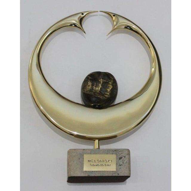 "Vintage Meloniski Bronze Sculpture ""Adamo Ed Eva"" For Sale - Image 13 of 13"