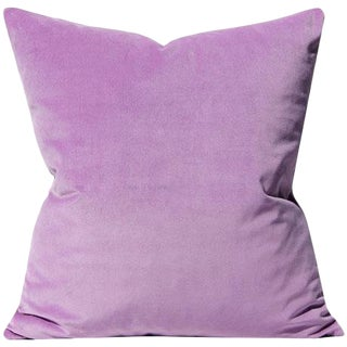 "Lilac Velvet Pillow Cover - 20"" x 20"" For Sale"