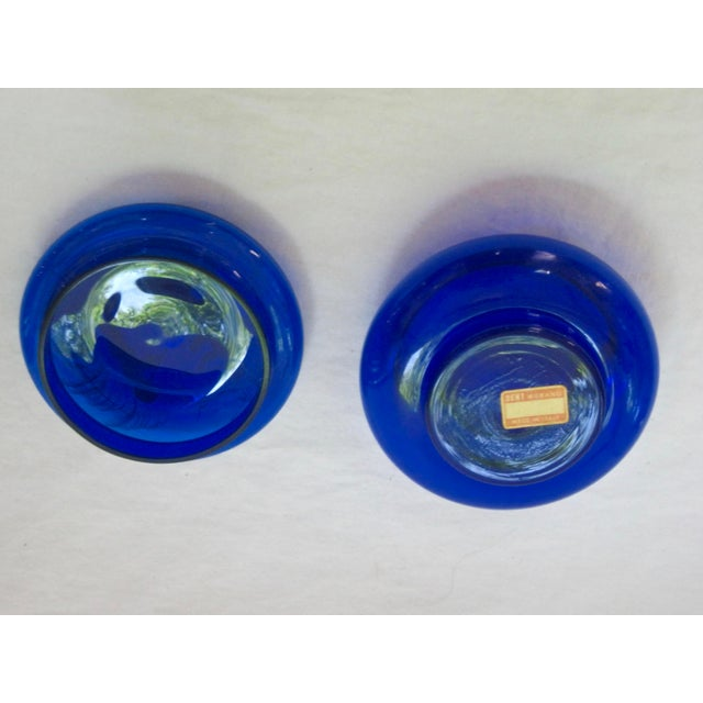 Hand Blown Italian Glass Trinket Box For Sale - Image 5 of 5