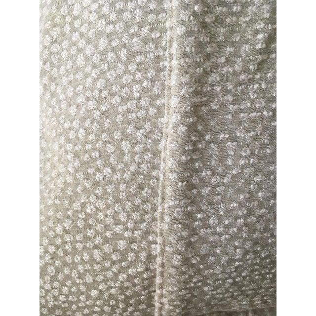Light Green Cut Velvet Pillows - A Pair For Sale - Image 4 of 7