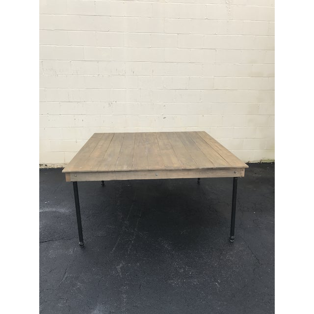 These tables are handmade and designed by us. They are relatively easy to move and lighter than most farm tables. The...