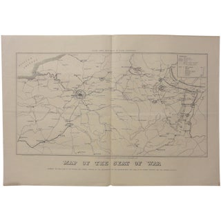 1840 Map of French & German Seat of War For Sale