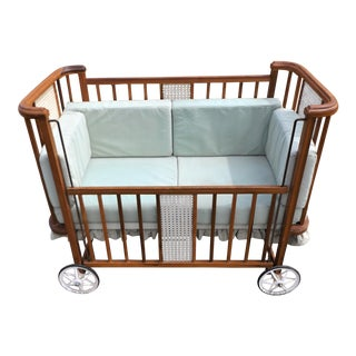 1950s Art Deco Baby Crib Made Into a Pet/Dog Bed For Sale