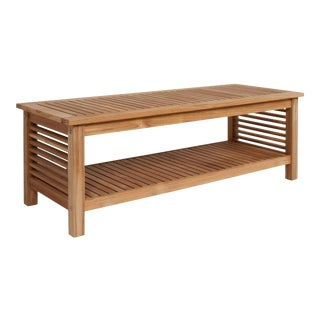 Summer Rectangular Teak Outdoor Coffee Table For Sale