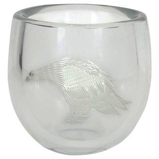 Periphas Kosta Boda Eagle Crystal Vase For Sale