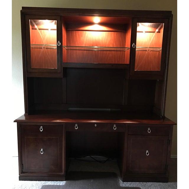 Thomasville Bogart Desk Credenza For Sale - Image 5 of 11