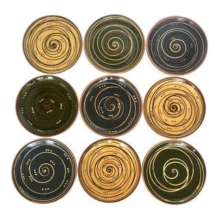 9 Handmade Hungarian Decorative Plates For Sale