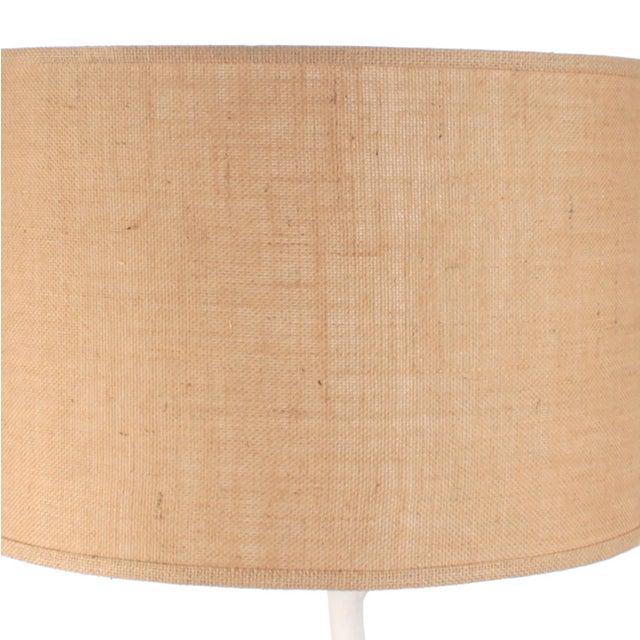 2010s Faux Bois Floor Lamp in Venetian Plaster & Shade For Sale - Image 5 of 7