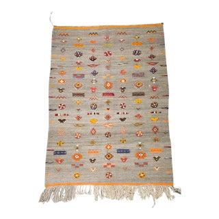 Flat Weave Moroccan Hanbel Rug For Sale