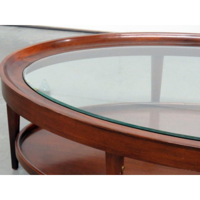 Modern design beveled glass top coffee table.