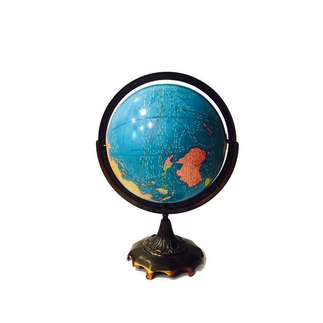 Vintage Cram's Double Axis World Globe - Image 5 of 6