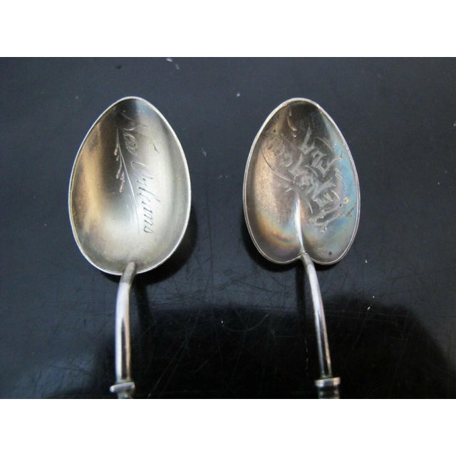Late 19th Century Various Victorian Sterling Silver Demitasse Souvenir Spoons - Set of 8 For Sale - Image 10 of 11