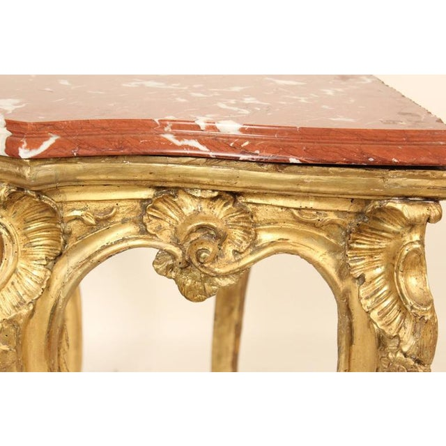 18th Century Louis XV Giltwood Console Table For Sale - Image 4 of 11