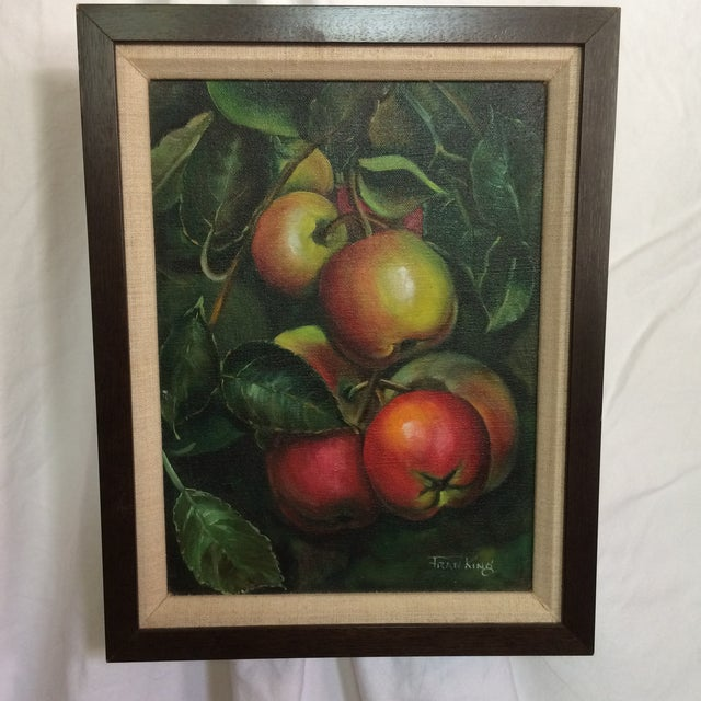 Mid-Century Modern Three Vintage Still Life Oil & Acrylic Framed Paintings by Sacramento Artist Fran King - Group of 3 For Sale - Image 3 of 13