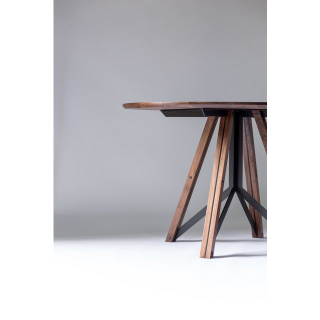 Not Yet Made - Made To Order Trestle Dining Table - Walnut For Sale - Image 5 of 6