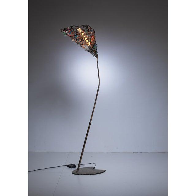 1980s Salvino Marsura unique floor lamp, Italy, 1980s For Sale - Image 5 of 7