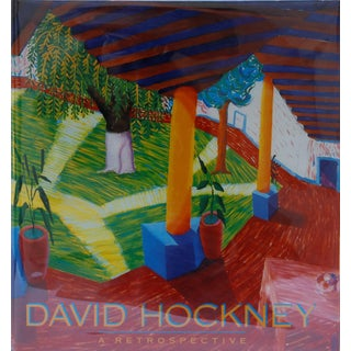 David Hockney, a Retrospective - 1st Edition 1988 Hardcover Art Book For Sale