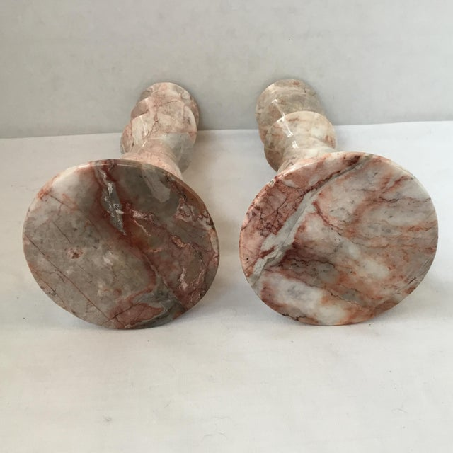 1970s 1970s Red Stone Candlesticks - a Pair For Sale - Image 5 of 11