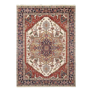 Pasargad Serapi Hand-Knotted Rug - 9′ × 12′ For Sale