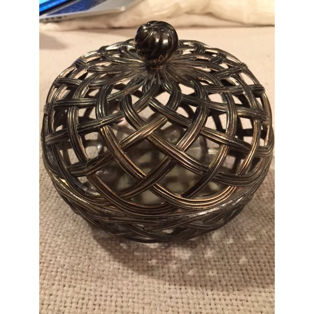 Antique Silver Caged Box - Image 2 of 7