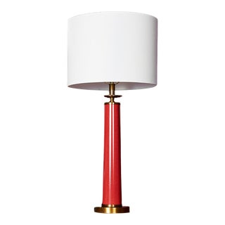 Currey & Co. Rhyme Red Table Lamp