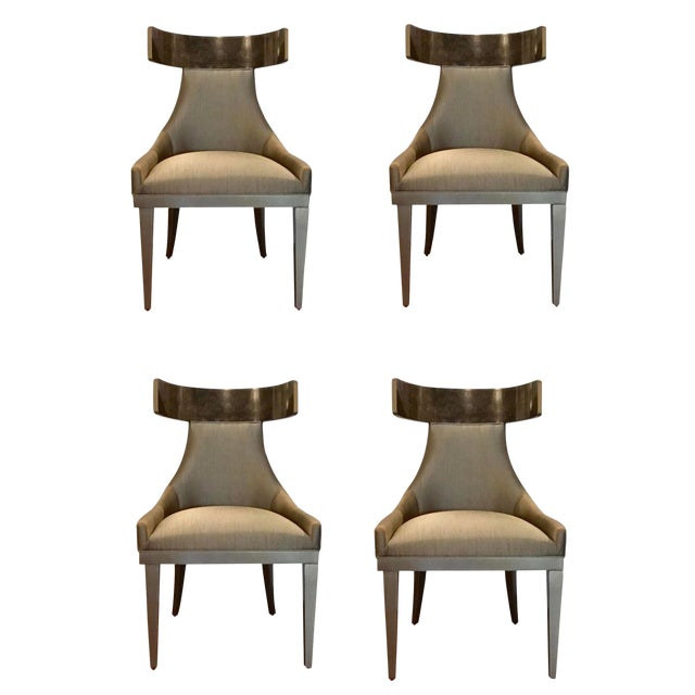 Caracole Modern Sitting in Style Dining Chairs Set of Four For Sale