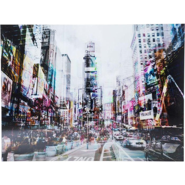 Times Square in Tempered Glass Photograph For Sale