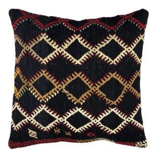 "Bold Boho Vintage Kilim Pillow   20"" For Sale"