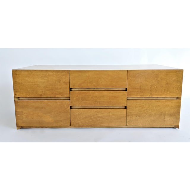 Cabinet by Edmond J Spence in maple. Cabinet has been professionally restored. This case piece can be used on a bench or...