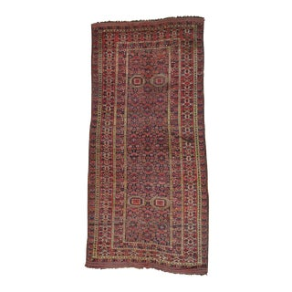 Early 20th Century Antique Afghan Wool Rug - 10′ × 21′6″ For Sale
