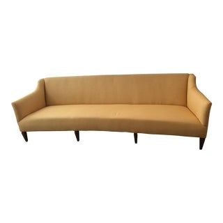 1950s Mid Century Butter Yellow Sofa For Sale