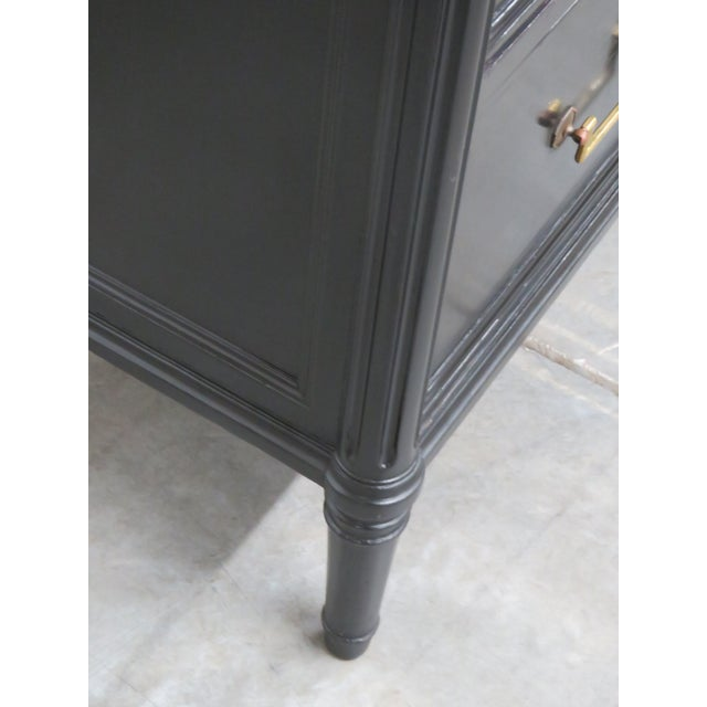 Directoire Style Marble Top Ebonized Commode For Sale - Image 11 of 12