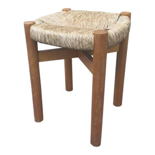 Pair of Charlotte Perriand Rush Stools Model Meribel For Sale