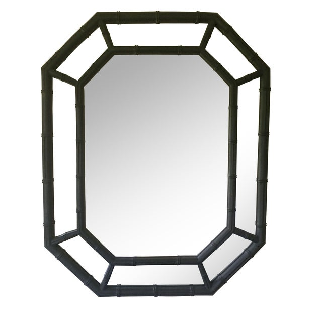 Hollywood Regency Faux Bamboo Mirror - Image 1 of 4