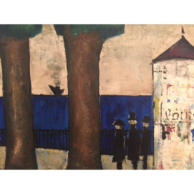 1960s Original Mid-Century Modern Signed Oil Painting on Canvas For Sale - Image 5 of 12